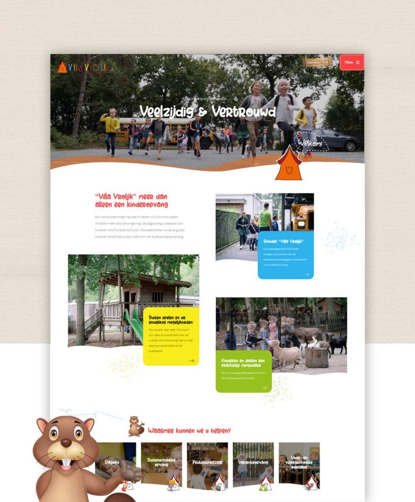 Nieuwe website Kinderdagverblijf Villa Vrolijk Helmond Mierlo